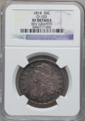 Bust Half Dollars, 1814 50C -- Rev Graffiti -- NGC Details. XF. O-103. NGC Census:(29/489). PCGS Population (70/366). Mintage: 1,039,075. Nu...