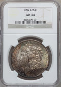 Morgan Dollars: , 1902-O $1 MS64 NGC. NGC Census: (27110/6890). PCGS Population(19549/4598). Mintage: 8,636,000. Numismedia Wsl. Price for p...