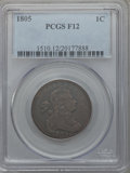 Large Cents: , 1805 1C Fine 12 PCGS. PCGS Population (12/150). NGC Census: (6/97).Mintage: 941,116. Numismedia Wsl. Price for problem fre...