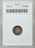 Seated Half Dimes: , 1841 H10C AU55 ANACS. NGC Census: (7/150). PCGS Population (6/98).Mintage: 1,150,000. Numismedia Wsl. Price for problem fr...