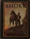 Books:Color-Plate Books, Will James. Smoky. Scribners, 1929. Later impression. Publisher's cloth with rubbing, ends and corners showing a lit...