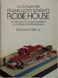 Books:Art & Architecture, Frank Lloyd Wright [subject]. Edmund V. Gillon, Jr. Cut & Assemble Frank Lloyd Wright's Robie House. Dover, 1987. Fi...