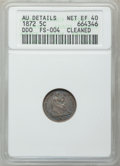 Seated Half Dimes: , 1872 H10C -- Cleaned -- ANACS. AU Details Net XF40. Double Die Obverse FS-004. NGC Census: (2/354). PCGS Population (2/386)...