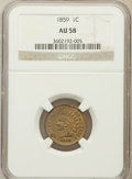 Indian Cents: , 1859 1C AU58 NGC. NGC Census: (1/15). PCGS Population (201/1499).Mintage: 36,400,000. Numismedia Wsl. Price for problem fr...