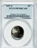 Proof Jefferson Nickels, (3)2007-S 5C PR70 Deep Cameo PCGS. ... (Total: 3 coins)