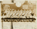 Football Collectibles:Photos, 1935 Chicago Bears Team Signed Oversized Original George BurkePhotograph, With Red Grange....