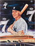 Autographs:Others, 1986 Mickey Mantle Signed Prints Lot of 2....