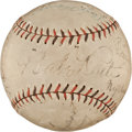 Autographs:Baseballs, 1927 New York Yankees & Pittsburgh Pirates Signed World SeriesBaseball....