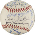 Baseball Collectibles:Balls, 1970s Detroit Tigers Signed Reunion Baseball With Greenberg. ...
