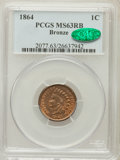Indian Cents: , 1864 1C Bronze No L MS63 Red and Brown PCGS. CAC. PCGS Population(134/590). NGC Census: (56/478). Mintage: 39,233,712. Num...