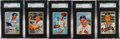 Baseball Cards:Lots, 1952 Bowman Baseball SGC 96 Mint 9 Collection (5) - All Pop One orTwo, None Higher! ...