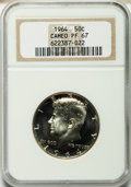 Proof Kennedy Half Dollars: , 1964 50C PR67 Cameo NGC. NGC Census: (906/2601). PCGS Population(717/1023). Numismedia Wsl. Price for problem free NGC/PC...