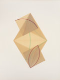 Post-War & Contemporary:Contemporary, DOROTHEA ROCKBURN (Canadian, b. 1932). Parallelogram with twosmall squares (from Vellum Curve series), 1978. Mixed medi...