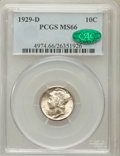 Mercury Dimes: , 1929-D 10C MS66 PCGS. CAC. PCGS Population (20/9). NGC Census:(70/10). Mintage: 5,034,000. Numismedia Wsl. Price for probl...