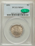 Liberty Nickels, 1891 5C MS63 PCGS. CAC. PCGS Population (144/293). NGC Census:(92/230). Mintage: 16,834,350. Numismedia Wsl. Price for pro...