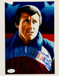 Hockey Collectibles:Photos, 1990's Herb Brooks Signed Print....