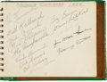 Autographs:Others, 1946 Nashua (NH) Dodgers Team Signed Page with Roy Campanella....