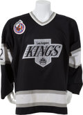 Hockey Collectibles:Uniforms, 1992-93 Kelly Hrudey Game Worn Los Angeles Kings Jersey....