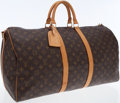 Luxury Accessories:Bags, Louis Vuitton Classic Monogram Canvas Keepall Bandouliere 55Weekender Bag with Shoulder Strap. ...