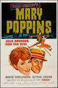 "Movie Posters:Fantasy, Mary Poppins (Buena Vista, R-1973) One Sheet (27"" X 41"") Style A,Title Lobby Card (11"" X 14""), & Color Photos (7) (8"" X 10""...(Total: 9 Items)"