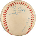 Autographs:Baseballs, 1959 Hall of Famers Multi-Signed Baseball with Cobb, Foxx....