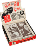 "Non-Sport Cards:Unopened Packs/Display Boxes, 1959 Nu Cards ""Rock & Roll"" Cello pack Box With 34 UnopenedPacks. ..."