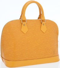 Louis Vuitton Yellow Epi Leather Alma Bag