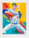 Autographs:Others, Circa 1990 Sandy Koufax Serigraph by LeRoy Neiman, Signed byBoth....