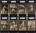 Baseball Cards:Sets, 1929 R316 Kashin Publications Baseball SGC-Graded Collection (24)With 2 Gehrig and Ruth. ...