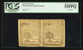 Colonial Notes:Pennsylvania, Pennsylvania June 18, 1764 3d Horizontal Pair PCGS Choice About New55PPQ.. ...