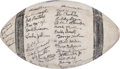 Football Collectibles:Balls, 1948 Chicago Bears Team Signed Football....