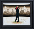 "Golf Collectibles:Autographs, 2000-01 Tiger Woods Signed Limited Edition ""Tiger Slam"" Print...."
