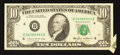Error Notes:Foldovers, Fr. 2027-D $10 1985 Federal Reserve Note. Extremely Fine.. ...