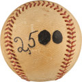 Baseball Collectibles:Balls, 1963 Nellie Fox 2,500th Hit Baseball with Family Provenance....