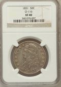 Bust Half Dollars, 1831 50C XF40 NGC. O-116. NGC Census: (79/1349). PCGS Population(138/1428). Mintage: 5,873,660. Numismedia Wsl. Price for ...