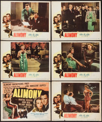 "Alimony (Eagle Lion, 1949). Title Lobby Card & Lobby Cards (5) (11"" X 14""). Crime. ... (Total: 6 Items..."