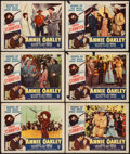 "Movie Posters:Western, Annie Oakley (RKO, R-1952). Lobby Cards (6) (11"" X 14""). Western.. ... (Total: 6 Items)"