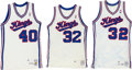 Basketball Collectibles:Uniforms, 1986-88 Sacramento Kings Game Worn Jerseys Lot of 3....