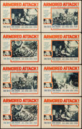 """Movie Posters:War, Armored Attack (NTA, 1957). Title Lobby Card (11"""" X 14"""") &Lobby Cards (7) (11"""" X 14""""). War.. ... (Total: 8 Items)"""