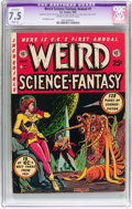 Golden Age (1938-1955):Science Fiction, Weird Science-Fantasy Annual #1 (EC, 1952) CGC Apparent VF- 7.5Slight (A) Cream to off-white pages....