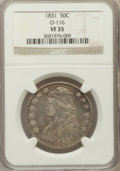 Bust Half Dollars, 1831 50C VF35 NGC. O-116. NGC Census: (49/1428). PCGS Population(84/1566). Mintage: 5,873,660. Numismedia Wsl. Price for p...