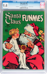 Four Color #61 Santa Claus Funnies (Dell, 1944) CGC NM 9.4 Off-white to white pages