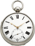 Timepieces:Pocket (pre 1900) , Robert Roskell Liverpool Unusually Large Silver Cased Chronometer, circa 1816. ...