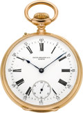 Timepieces:Pocket (pre 1900) , Patek Philippe & Co. Gent's Gold Pocket Watch, circa 1888. ...