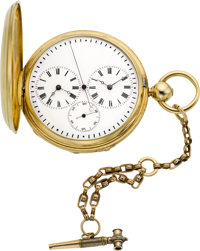 M.J. Tobias Liverpool 18k Gold Captain's Watch With Independent Seconds, circa 1860's