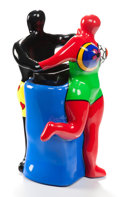 Sculpture, NIKI DE SAINT-PHALLE (French, 1930-2002). The Couple, 2000. Painted polyester resin. 12-1/4 inches (31.0 cm). Ed, EA III...