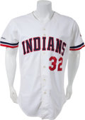 Baseball Collectibles:Uniforms, 1987 Steve Carlton Game Worn Cleveland Indians Jersey. ...