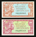 Military Payment Certificates:Series 611, Series 611 25¢ and 50¢ MPC.. ... (Total: 2 notes)