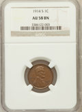 Lincoln Cents, 1914-S 1C AU58 Brown NGC. NGC Census: (37/107). PCGS Population(76/138). Mintage: 4,137,000. Numismedia Wsl. Price for pro...