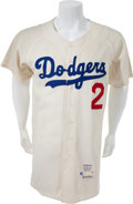 Baseball Collectibles:Uniforms, 1962 Leo Durocher Game Worn Los Angeles Dodgers Jersey, MEARS A10....